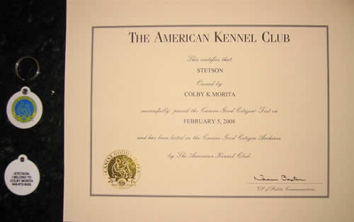 Stetson's CGC Certificate and Tag