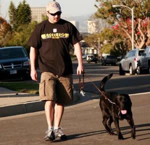 Stetson on his walk