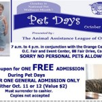 Pet Days Free Admission