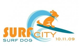 Surf Dog's at Huntington Dog Beach - Puppy In Training