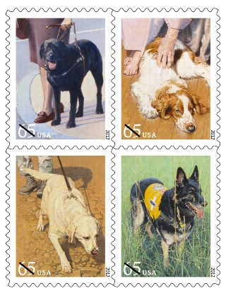 Working Dog Postage Stamps Now Available!