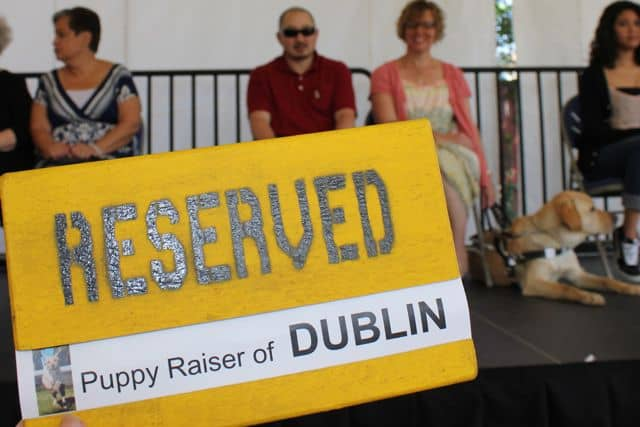 Reserved Puppy Raiser of DUBLIN