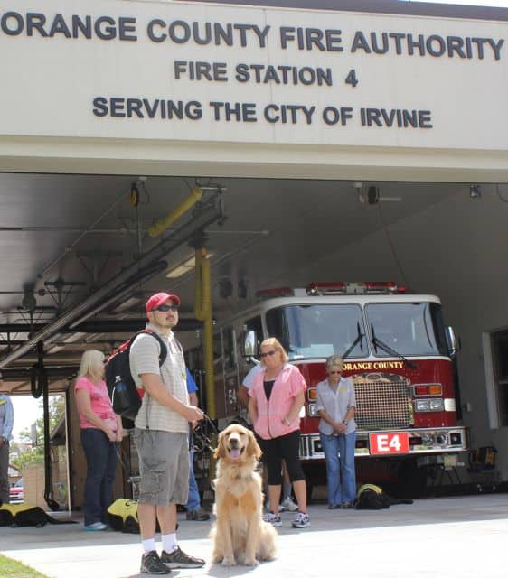 Puppies In Training At The Fire Station