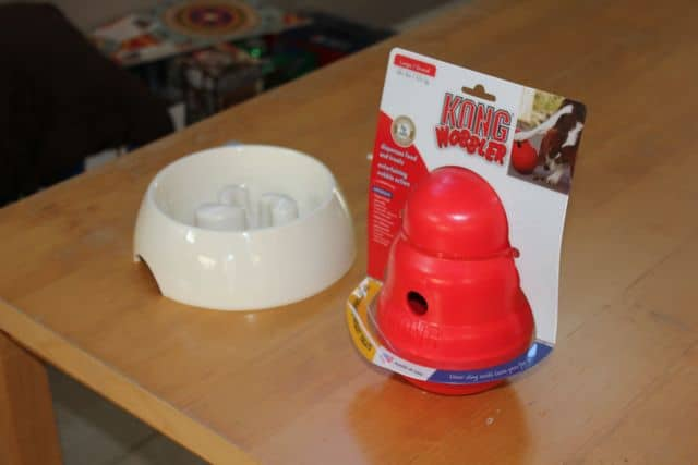 KONG Wobbler vs Dog Bowl