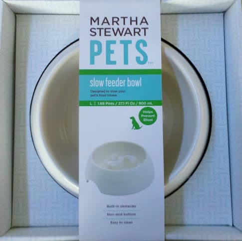 Slow Feeder Dog Bowl with Martha Stewart Label