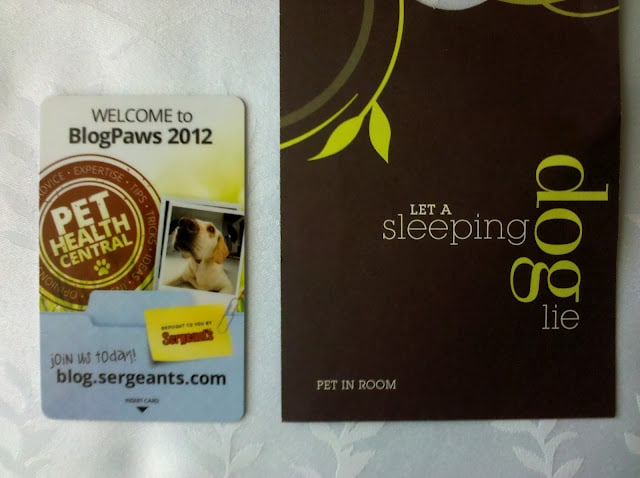 BlogPaws Hotel Sheraton