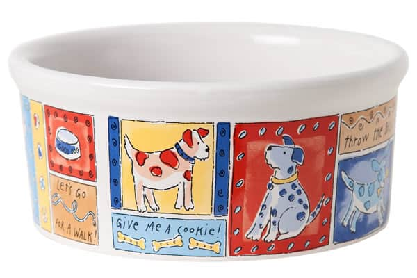 Ceramic Dog Bowl 3