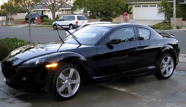 The Black Mazda Rx 8