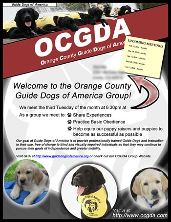 Welcome OCGDA Puppy Raiser!