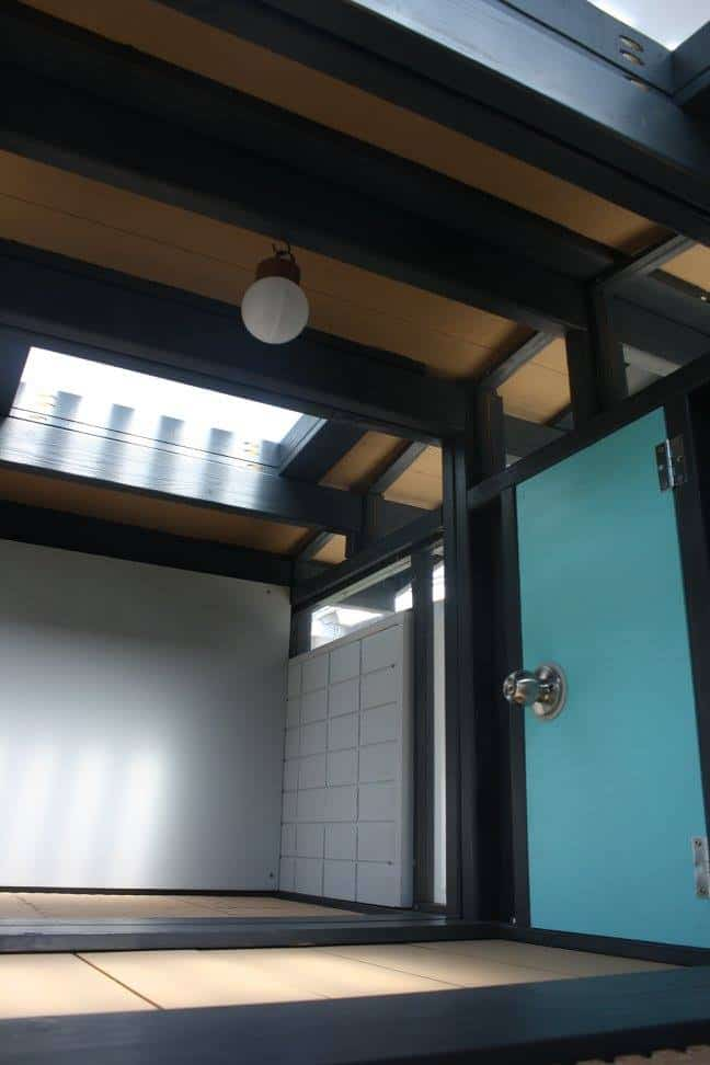 Here's a look at the Eichler dog house interior. To be furnished with comfy dog beds :)